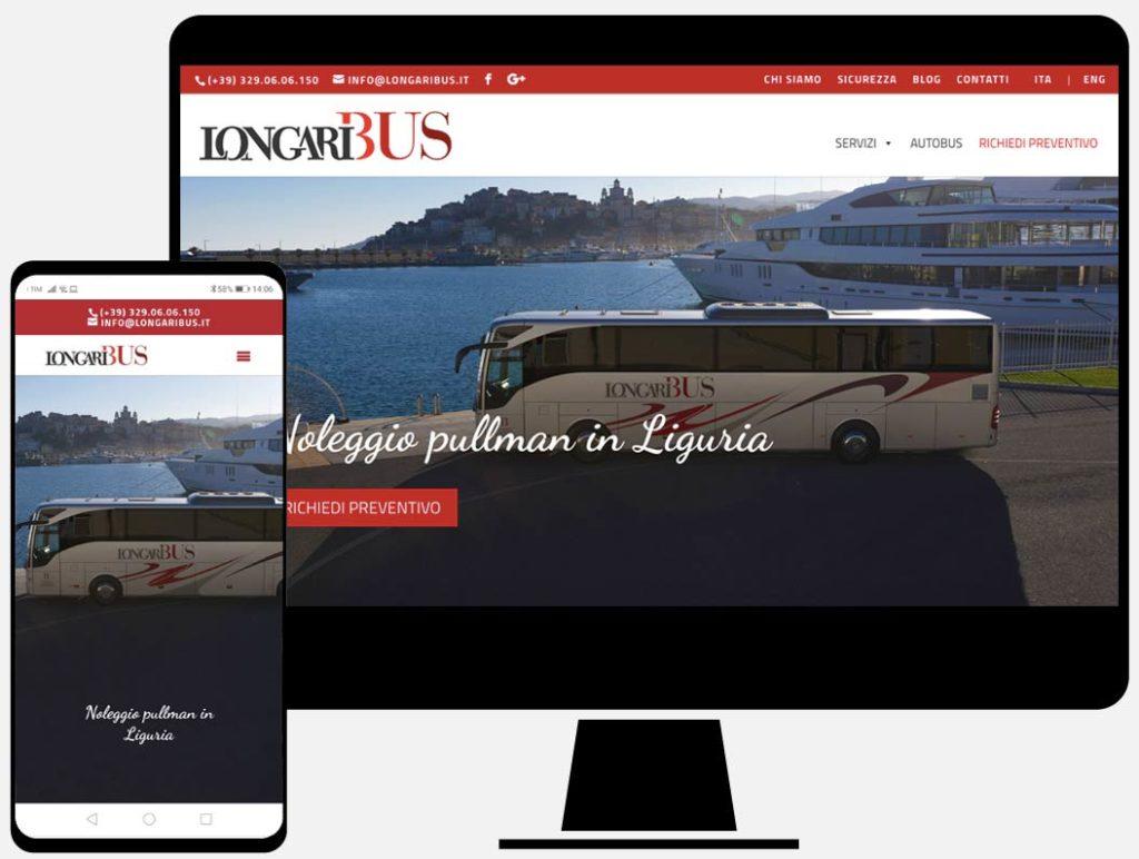 Longaribus, progettazione sito web