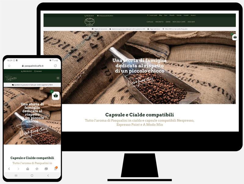 Pasqualini il caffè, progettazione sito web