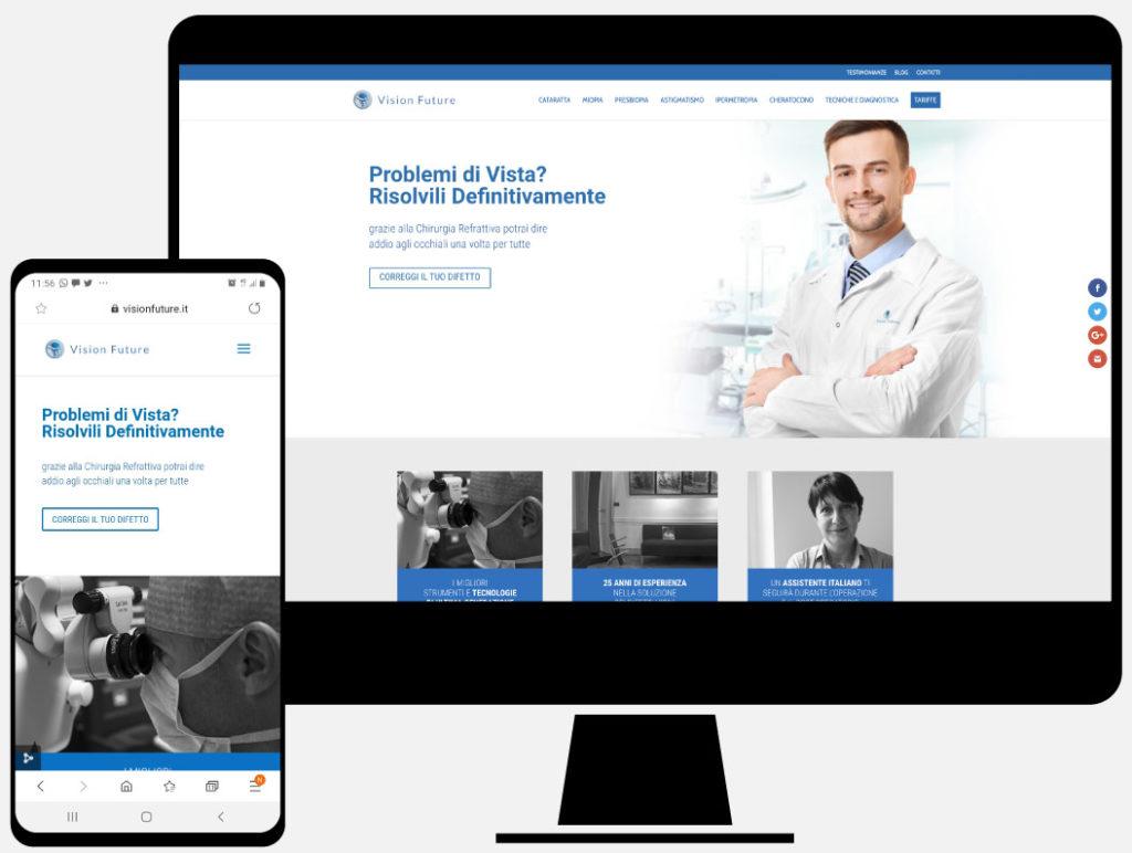 Vision Future, progettazione sito web