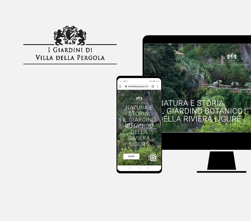 I Giardini di Villa delle Pergola, progettazione sito web