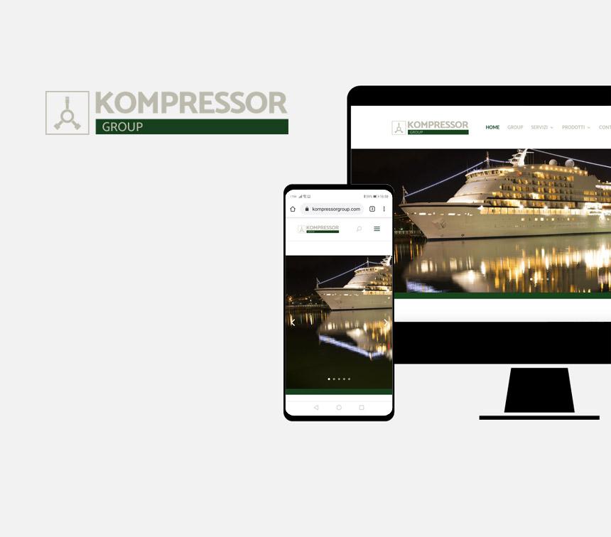 Kompressor Group, progettazione sito web