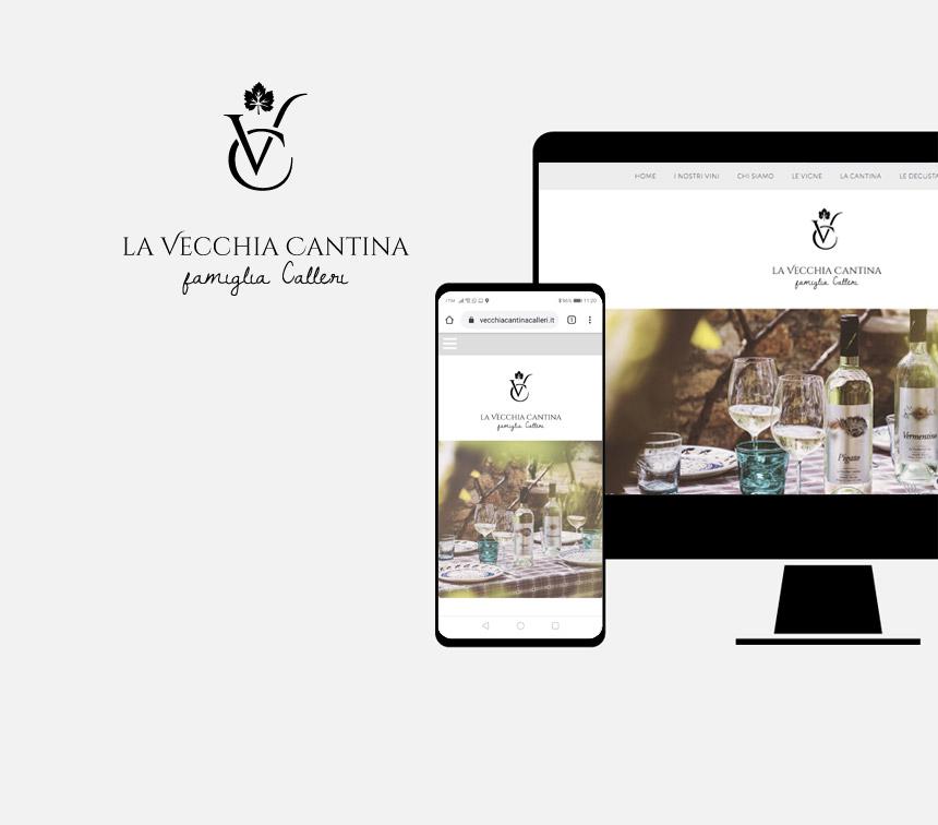 La Vecchia Cantina, progettazione sito web