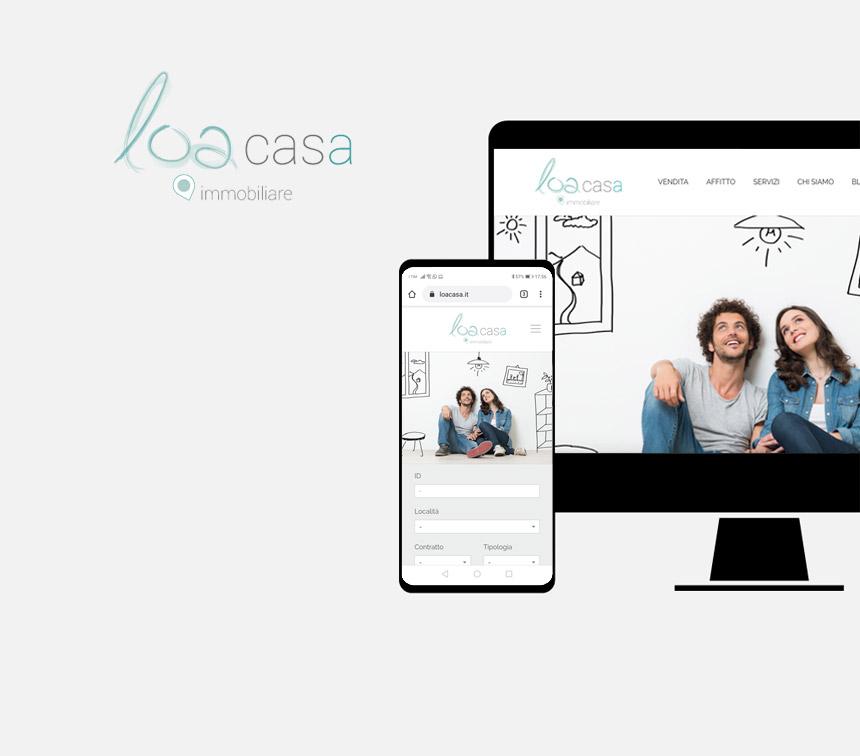 Loacasa, progettazione sito web
