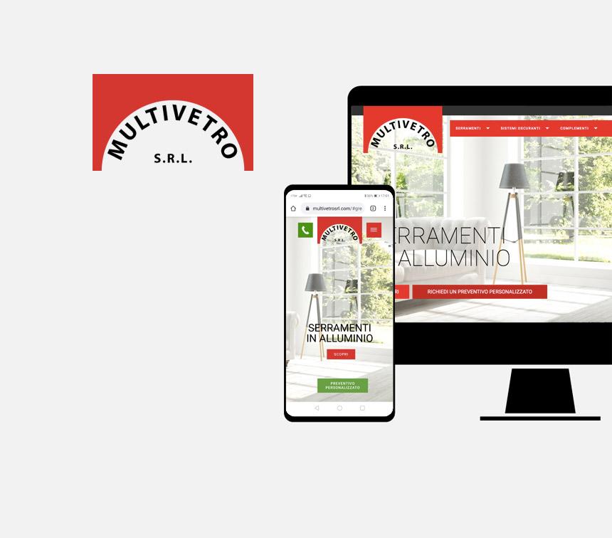 Multivetro progettazione sito web