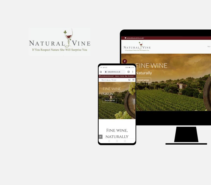 Naturalvine progettazione sito web