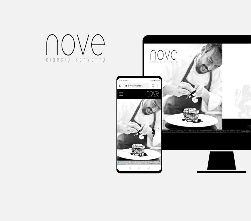 Nove Giorgio Servetto, progettazione sito web
