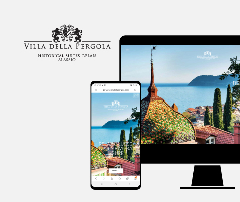 Villa della Pergola, portfolio siti web