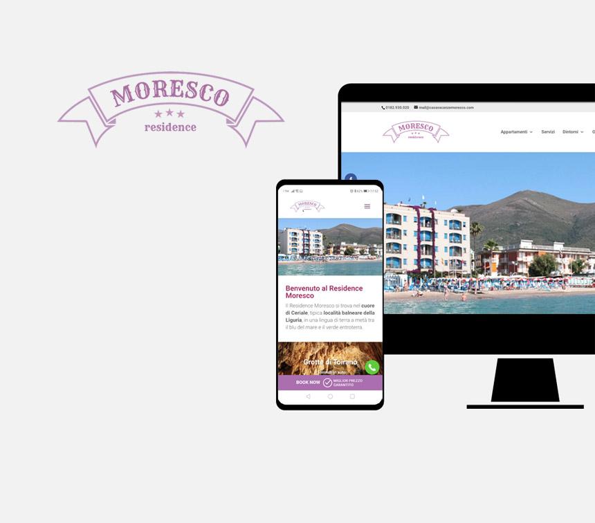 Residence Moresco, progettazione sito web