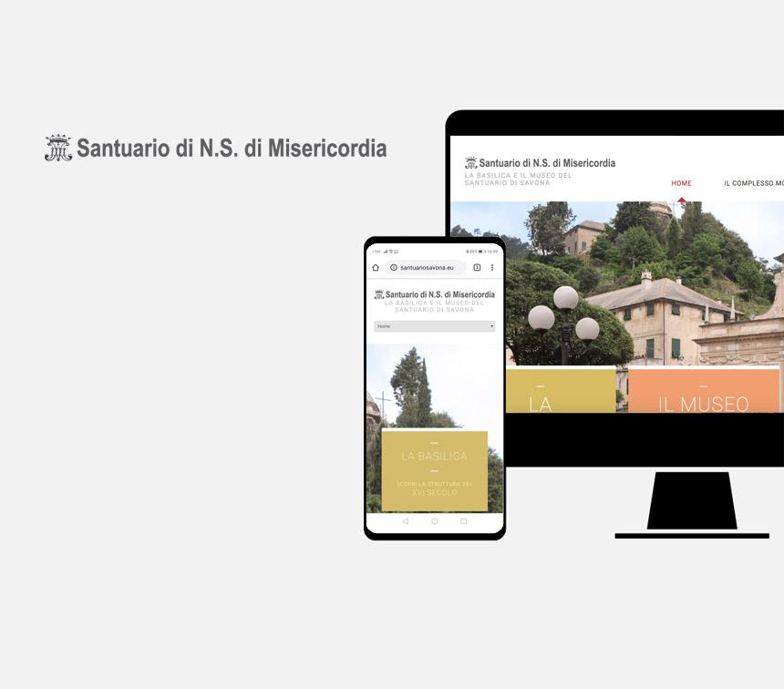 Santuario N.S. Misericordia, progettazione sito web
