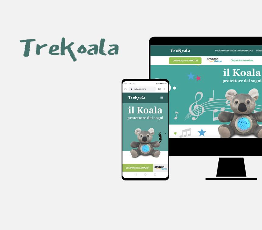 Trekoala, progettazione sito web