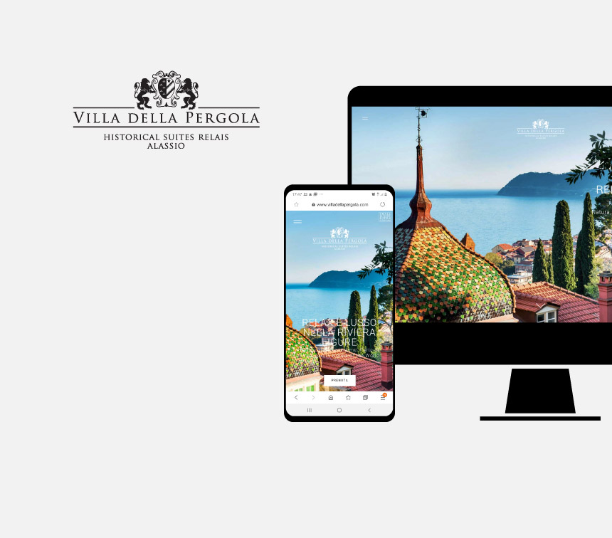 Villa della Pergola, progettazione sito web