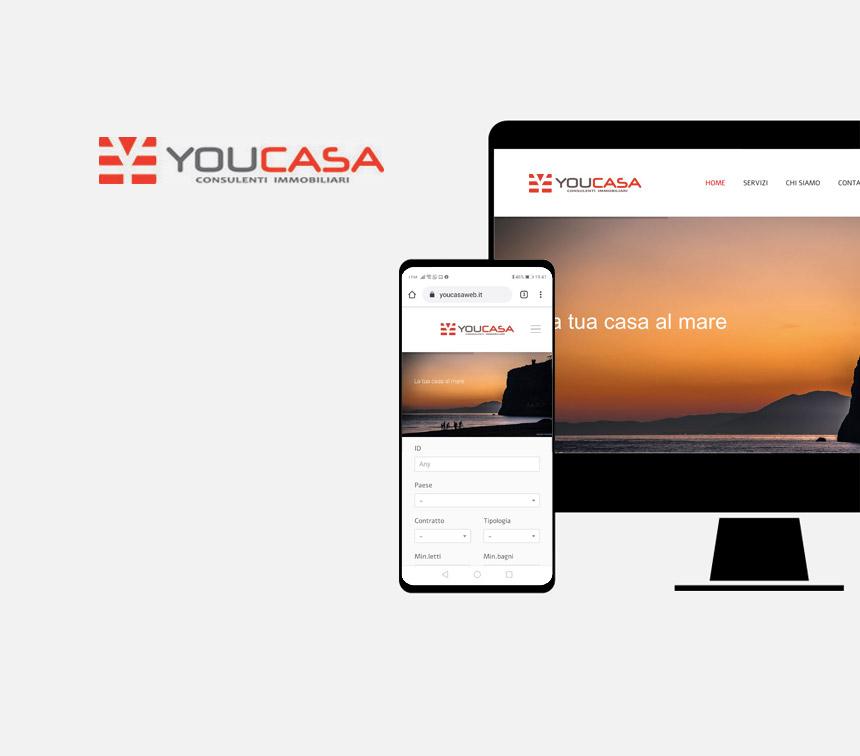 Youcasa, progettazione sito web